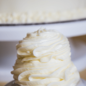 Vanilla Buttercream Frosting recipe that is not only quick and easy to make, but also our favorite and most versatile frosting ever!