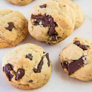 The perfect soft batch chocolate chip cookies are only minutes away with this easy one bowl method recipe!