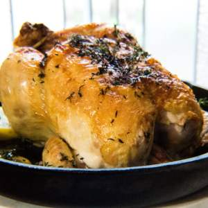 Cast Iron Roasted Lemon Herb Chicken