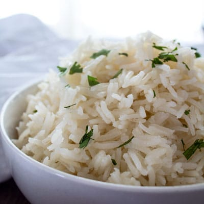 Quick and easy Instant Pot Basmati Rice turns out beautifully moist and fluffy rice each and every time!