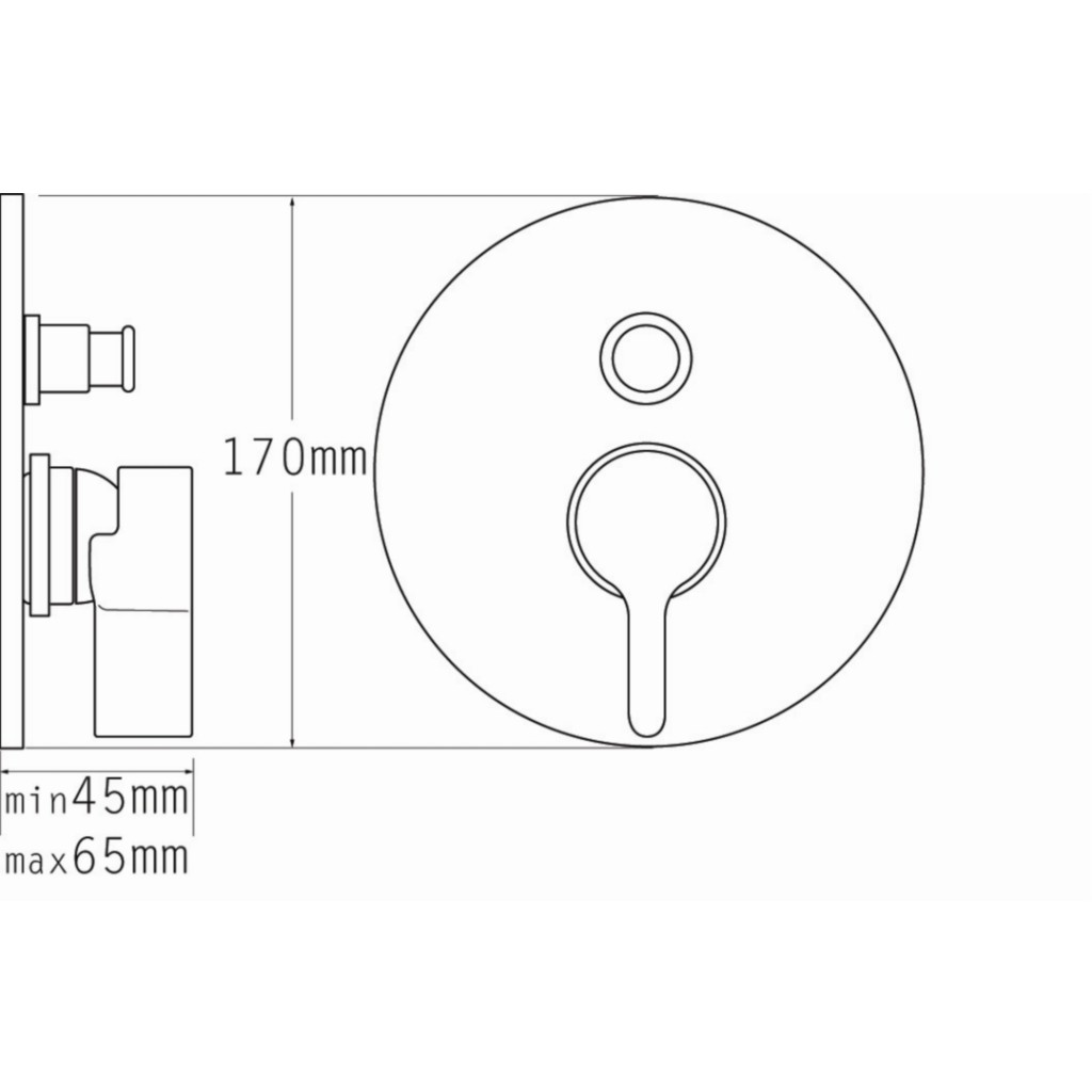 Tre Mercati Cabana Concealed Manual Shower Valve With Push