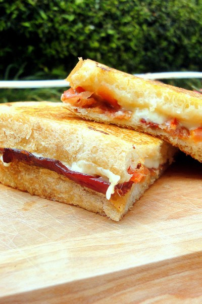 This Bacon, Tomato & Roasted Garlic Grilled Cheese is most delicious grilled cheese I've ever had! The roasted garlic takes it over the edge.