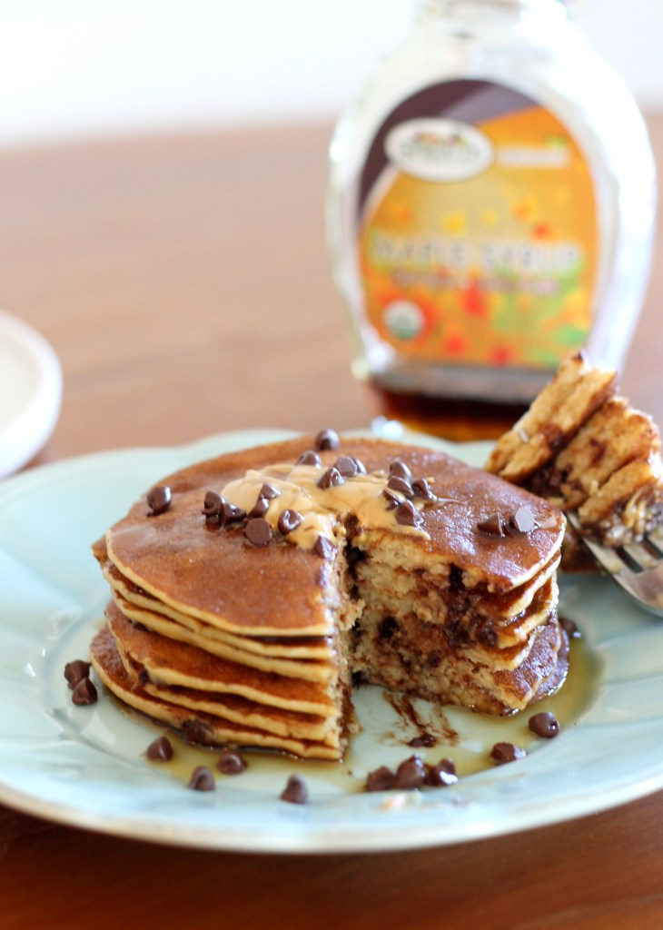 chocolate chip pancakes banana peanut butter amp chocolate chip protein pancakes 30029