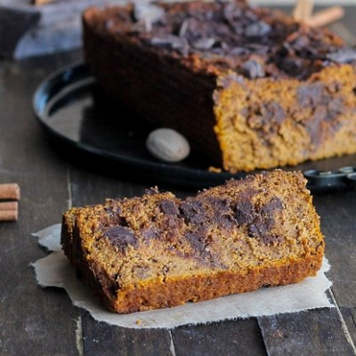 Paleo Chocolate Chunk Pumpkin Bread