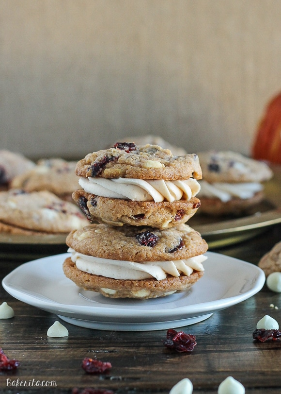 Pumpkin Spice Cookie Sandwiches with Cream Cheese Filling are easy and ...