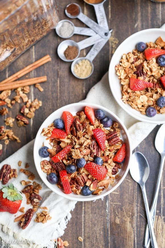 February 2016 Recipes 2016 10 23 Baked Apples With A Spiced Granola >> Chai Spice Granola
