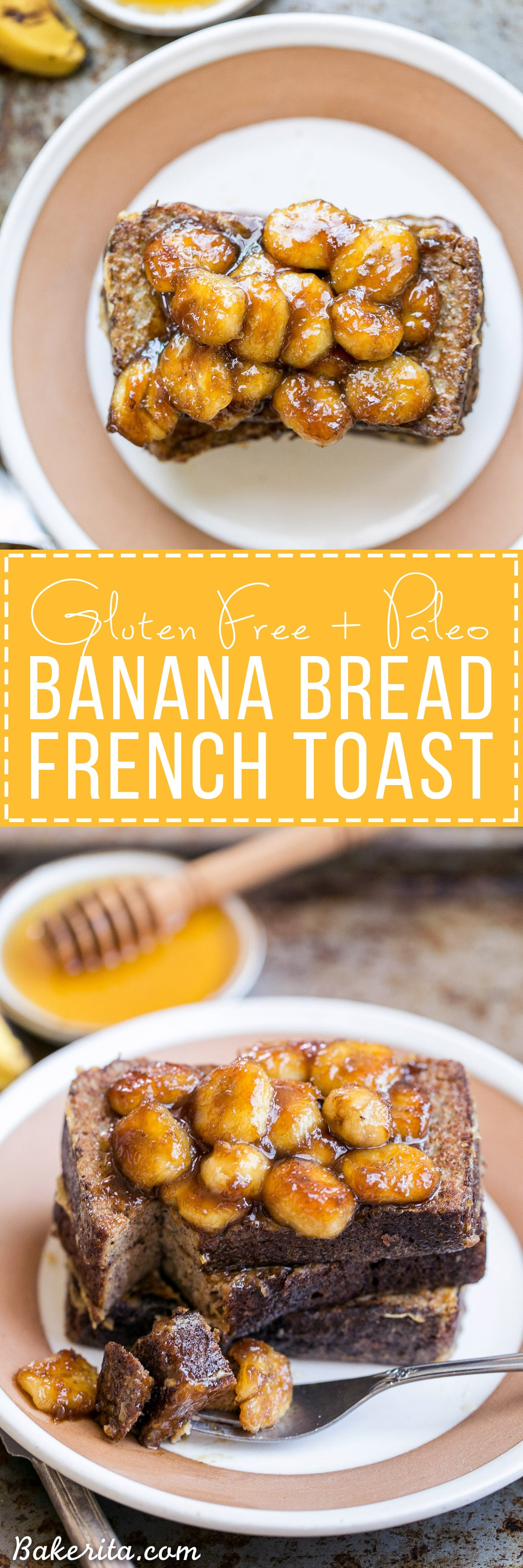 Banana bread french toast with caramelized bananas gluten free this banana bread french toast is topped with caramelized bananas for a banana lovers delight forumfinder Image collections