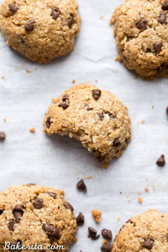 These Chocolate Chip Macaroons are a heavenly snack or dessert - they taste like a cross between a macaroon and a chocolate chip cookie! Plus, they're gluten-free, Paleo, and vegan.