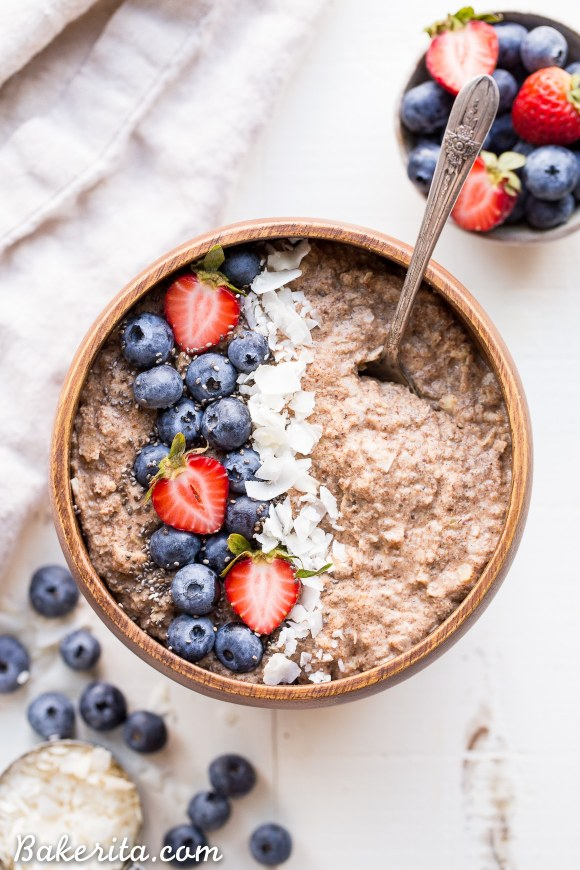 Quick grain free hot cereal gluten free paleo whole30 vegan not eating grains but missing your morning oatmeal look no further than this quick grain ccuart Choice Image