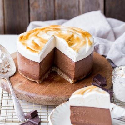 No Bake S'mores Cheesecake (Gluten Free, Dairy Free + Paleo)