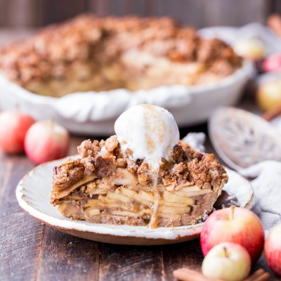 Apple Crumble Pie (Gluten Free, Paleo + Vegan)