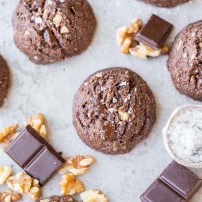 Double Chocolate Chunk Cookies (Gluten Free, Paleo + Vegan)