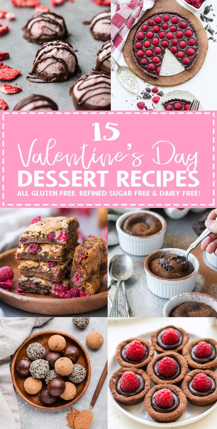 This Valentine's Day Dessert Recipe Roundup highlights 15 of my favorite recipes for you and your sweetie to enjoy this Valentine's Day - whether your sweetie is your significant other, your best friend, or YOURSELF, you've got to have a little bit of sweetness this Valentine's Day! All of the recipes included are gluten-free, refined sugar-free, and dairy-free.
