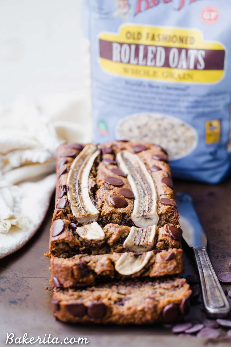 This Chocolate Chip Vegan Banana Bread is so easy to make in just one bowl and it's absolutely delicious! This vegan banana bread is also gluten-free and refined sugar-free - it makes the perfect easy breakfast, snack, or dessert.