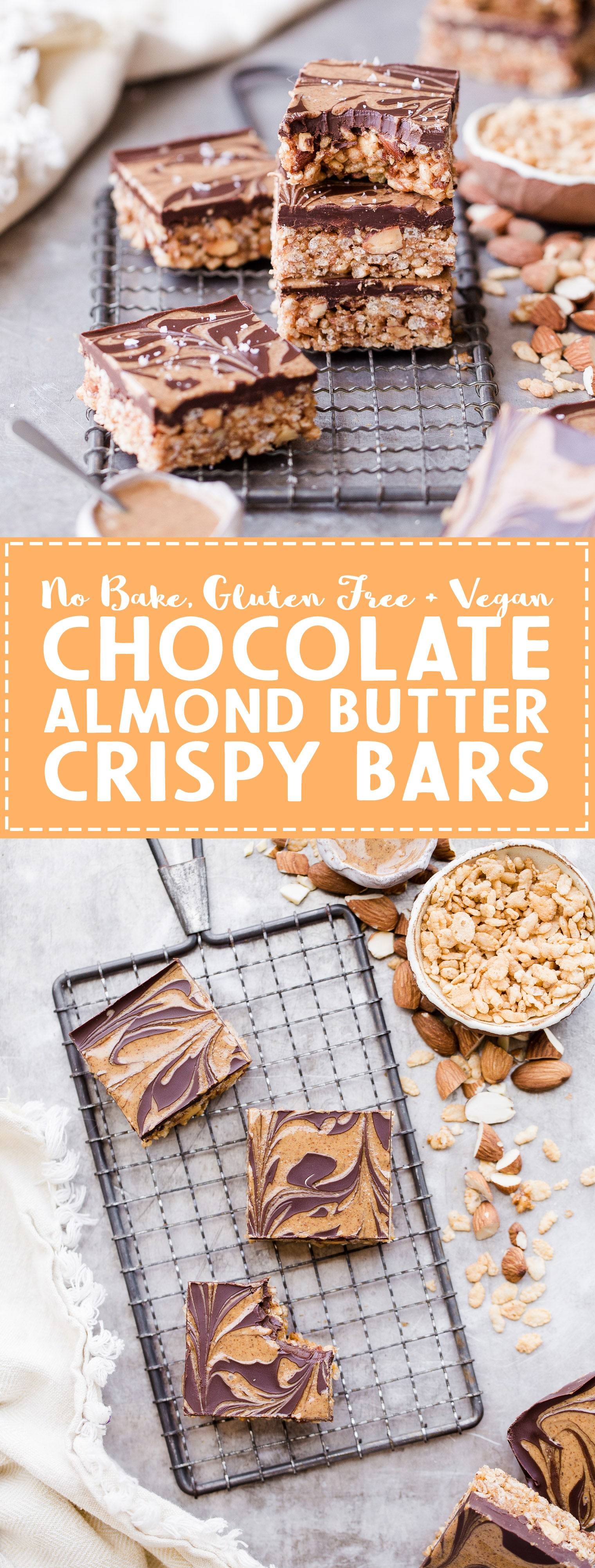 These Chocolate Almond Butter Crispy Bars Are Crunchy, Rich, And