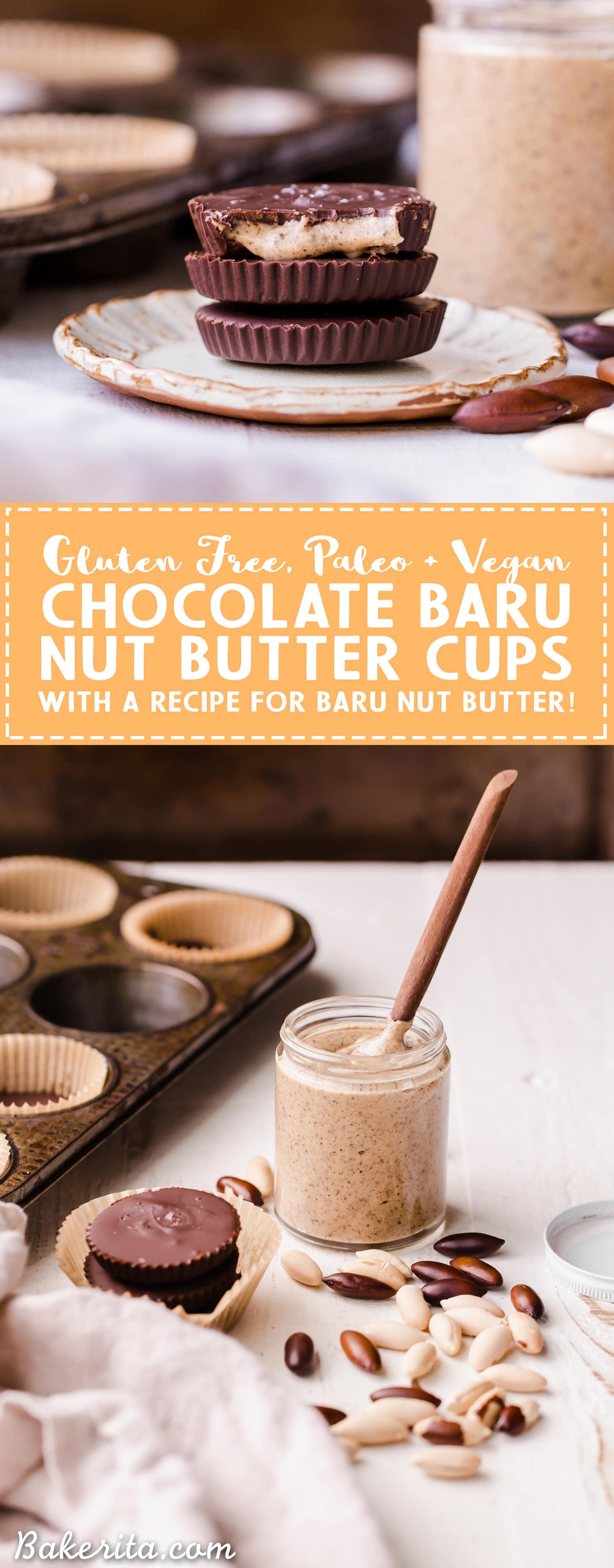 Have you ever heard of a Baru Nut? These superfood nuts are super high in protein and antioxidants, making them a great addition to your diet! This simple recipe shows you how to make a delicious Baru Nut Butter and Chocolate Baru Nut Butter Cups. They're gluten-free and vegan, with a paleo-option.