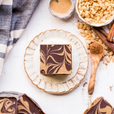 Chocolate Pumpkin Spice Crispy Bars (Gluten Free + Vegan)
