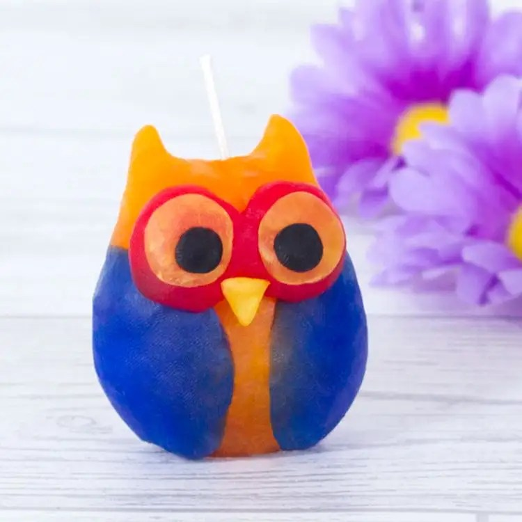 owl candle free craft
