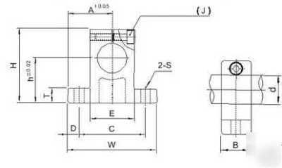 12MM shaft support, pillow block, cnc bearing clamp