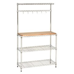 Bakers Racks For Kitchen Upgrade Ideas Seville Classics Rack Workstation Review
