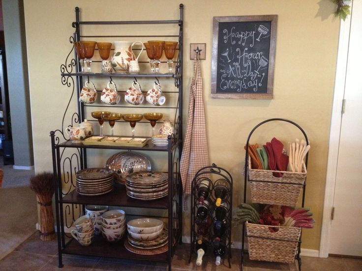 How to Creatively Decorate a Bakers Rack  Bakers Racks
