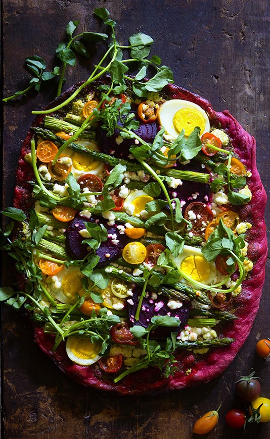 Beet Crust Pizza