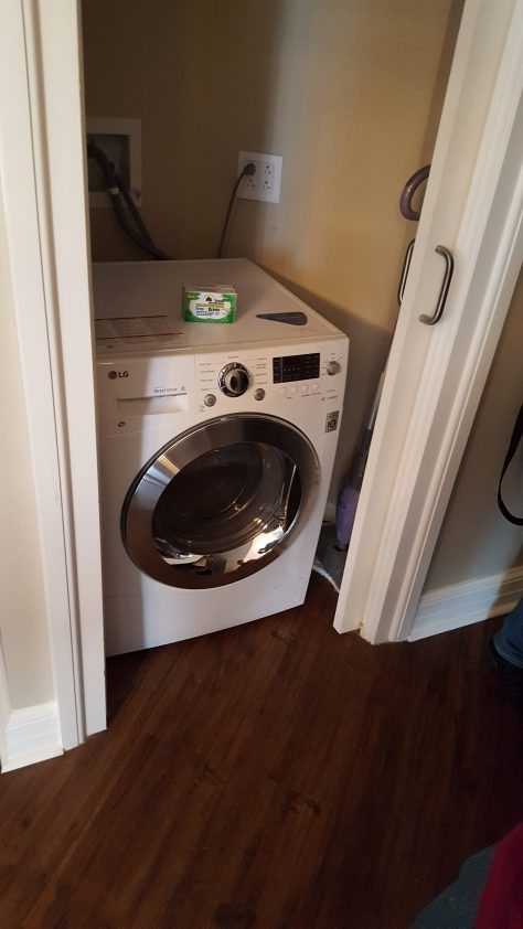 With a washer/dryer
