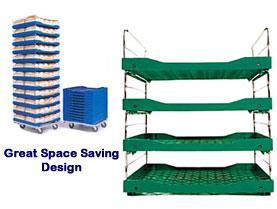 drader space saving bread trays
