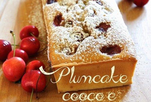 Plumcake cocco e ciliegie senza lattosio. Foto 1/2