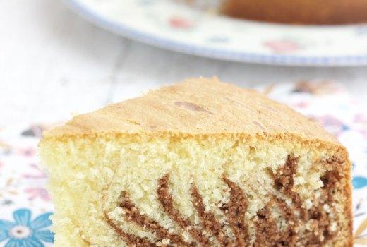 Torta zebrata senza lattosio