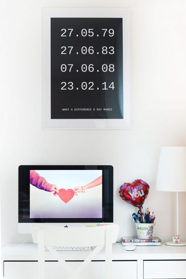 Poster personalizzato e scrivania