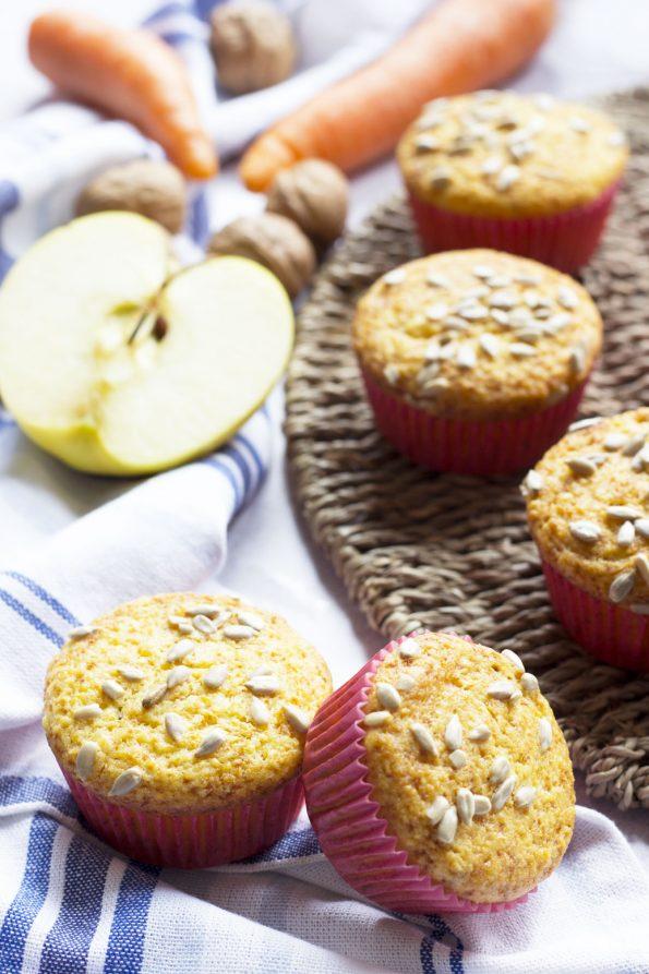 Morning Glory Muffin - Muffin con carote, mele e ananas