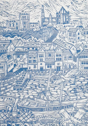 Maude Tricker Whitby Harbour (blue) £60.