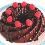 Vegan Chocolate & Raspberry Bundt Cake