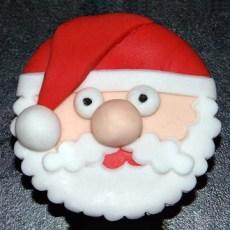 Father Christmas Cupcakes