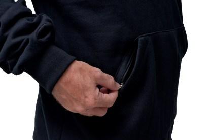 Zippered front pockets by Baki Clothing Company