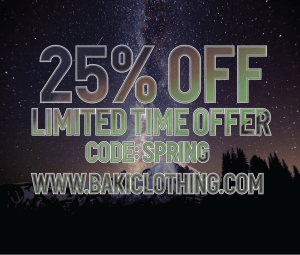 Save 25% on all Orders at Baki Clothing