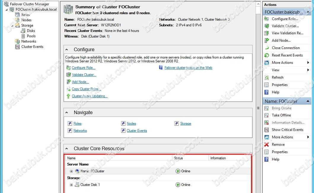 Failover Cluster IP Adres Değişimi ve Yapılandırması