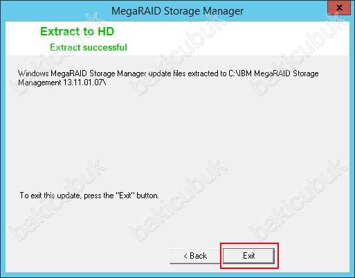 IBM MegaRAID Storage Manager Kurulumu – Baki CUBUK