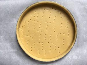 Lemon meringue tart - Tart crust ready for baking