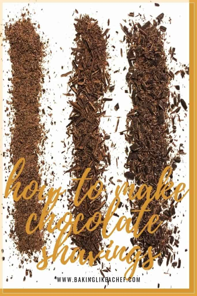 The kinds of Chocolate shavings