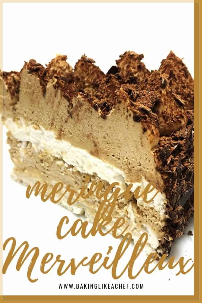 Merveilleux by Christophe Michalak is the best meringue cake with two layers of crunchy meringue, luscious coffee whipped cream and rich dark chocolate shavings. How to make Merveilleux dessert? Follow the easy Merveilleux recipe to make a gorgeous mouthwatering dessert! #meringues #cake #cakerecipes #whippedcream | www.bakinglikeachef.com