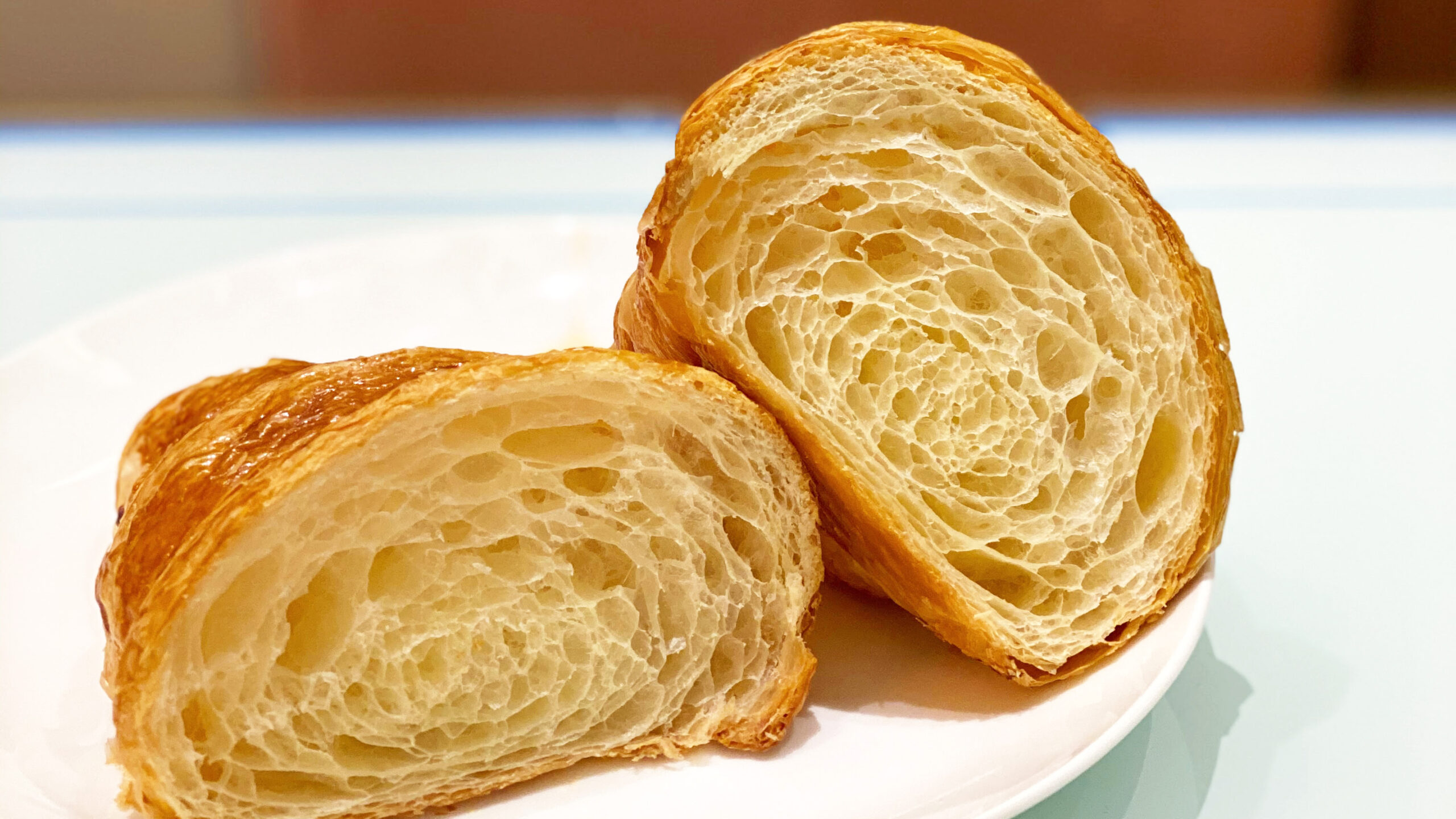 croissant with a beautiful cross section