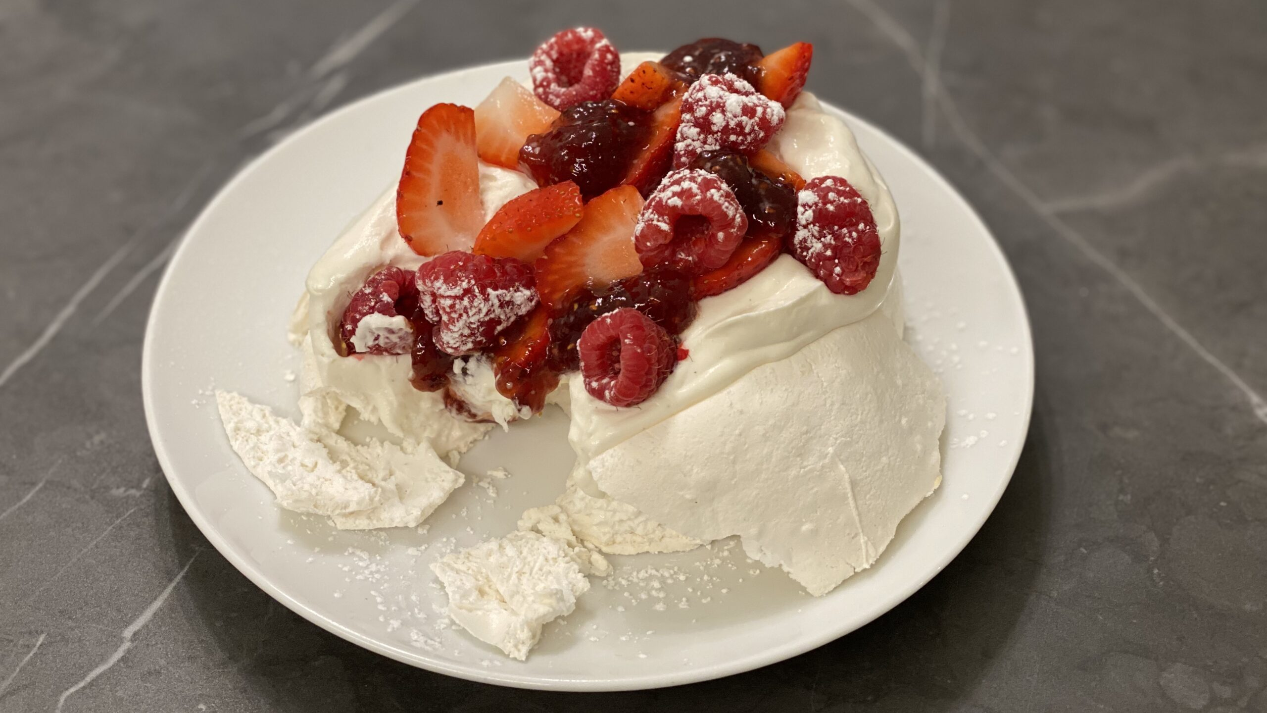 Strawberry and Cream Pavlova