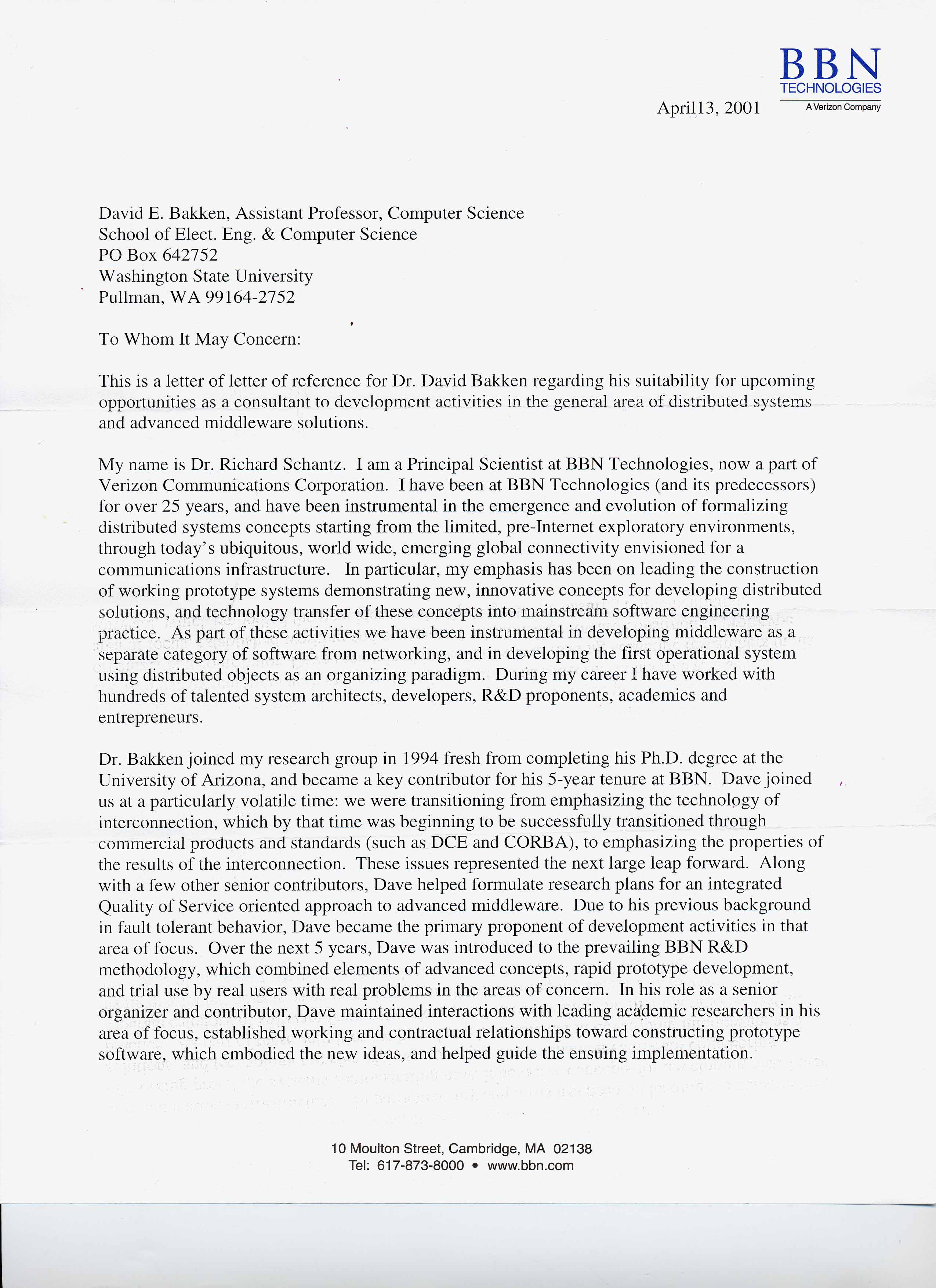 Sample Letter Of Recommendation For Law School From ...