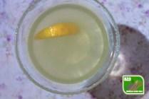 Lemon Drop, glas met lemon drop en citroen
