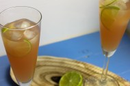 Wencke's delight met ginger ale, guave sap en sweet and sour cocktail