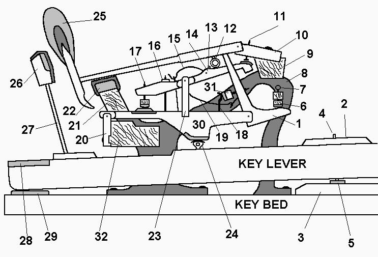 grand piano action diagram
