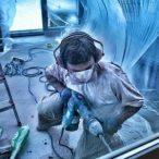technician using Hammer Drill