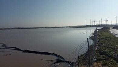 صورة شاهد: الاحتلال يغرق 1000 دونم زراعي بمياه الأمطار شرق غزة